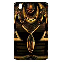 Golden Metallic Geometric Abstract Modern Art Samsung Galaxy Tab Pro 8 4 Hardshell Case by CrypticFragmentsDesign