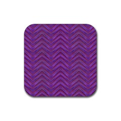 Grunge Chevron Style Rubber Square Coaster (4 Pack)  by dflcprints