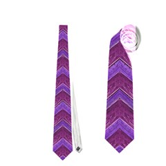 Grunge Chevron Style Neckties (one Side)  by dflcprints