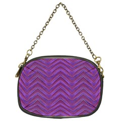 Grunge Chevron Style Chain Purses (one Side)  by dflcprints