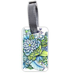 Peaceful Flower Garden 1 Luggage Tag (one Side) by Zandiepants