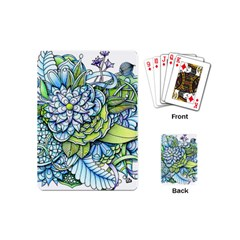 Peaceful Flower Garden 1 Playing Cards (mini) by Zandiepants