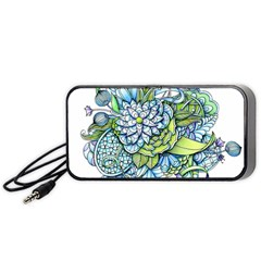 Peaceful Flower Garden 1 Portable Speaker (black) by Zandiepants