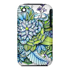 Peaceful Flower Garden 1 Apple Iphone 3g/3gs Hardshell Case (pc+silicone) by Zandiepants