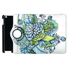 Peaceful Flower Garden 1 Apple Ipad 2 Flip 360 Case by Zandiepants