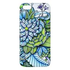 Peaceful Flower Garden 1 Apple Iphone 5 Premium Hardshell Case by Zandiepants