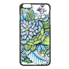 Peaceful Flower Garden 1 Apple Iphone 6 Plus/6s Plus Black Enamel Case by Zandiepants