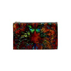 Boho Bohemian Hippie Floral Abstract Cosmetic Bag (small)  by CrypticFragmentsDesign