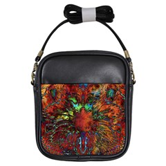 Boho Bohemian Hippie Floral Abstract Girls Sling Bags by CrypticFragmentsDesign