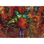 Boho Bohemian Hippie Floral Abstract BOY 3D Greeting Card (7x5) Front