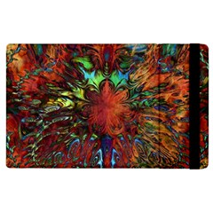 Boho Bohemian Hippie Floral Abstract Apple Ipad 3/4 Flip Case by CrypticFragmentsDesign