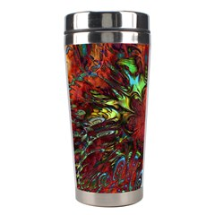 Boho Bohemian Hippie Floral Abstract Stainless Steel Travel Tumblers by CrypticFragmentsDesign