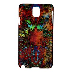 Boho Bohemian Hippie Floral Abstract Samsung Galaxy Note 3 N9005 Hardshell Case by CrypticFragmentsDesign