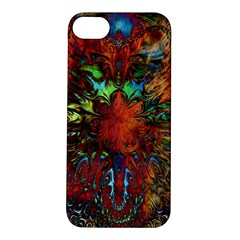 Boho Bohemian Hippie Floral Abstract Apple Iphone 5s/ Se Hardshell Case by CrypticFragmentsDesign