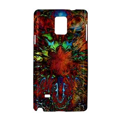 Boho Bohemian Hippie Floral Abstract Samsung Galaxy Note 4 Hardshell Case by CrypticFragmentsDesign