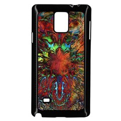 Boho Bohemian Hippie Floral Abstract Samsung Galaxy Note 4 Case (black) by CrypticFragmentsDesign