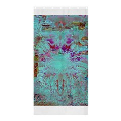 Retro Hippie Abstract Floral Blue Violet Shower Curtain 36  X 72  (stall)  by CrypticFragmentsDesign