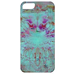 Retro Hippie Abstract Floral Blue Violet Apple Iphone 5 Classic Hardshell Case by CrypticFragmentsDesign