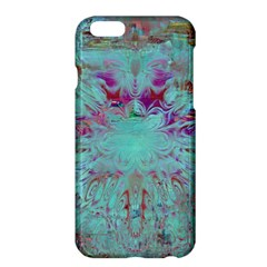 Retro Hippie Abstract Floral Blue Violet Apple Iphone 6 Plus/6s Plus Hardshell Case by CrypticFragmentsDesign
