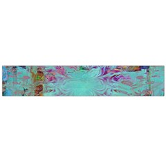 Retro Hippie Abstract Floral Blue Violet Flano Scarf (large) by CrypticFragmentsDesign