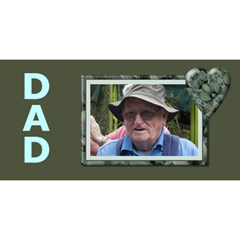 Dad 3d Greeting Card By Deborah   #1 Dad 3d Greeting Card (8x4)   30d8vags3vei   Www Artscow Com Front