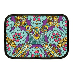 Mariager - Bold blue,purple and yellow flower design Netbook Case (Medium) by Zandiepants