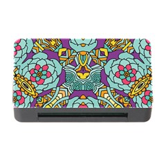 Mariager   Bold Blue,purple And Yellow Flower Design Memory Card Reader With Cf