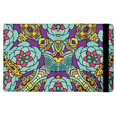 Mariager   Bold Blue,purple And Yellow Flower Design Apple Ipad 3/4 Flip Case by Zandiepants