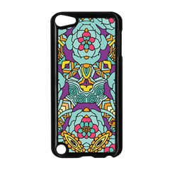 Mariager - Bold blue,purple and yellow flower design Apple iPod Touch 5 Case (Black) by Zandiepants