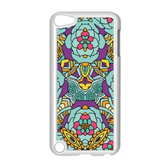 Mariager   Bold Blue,purple And Yellow Flower Design Apple Ipod Touch 5 Case (white) by Zandiepants