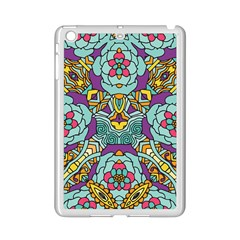 Mariager   Bold Blue,purple And Yellow Flower Design Apple Ipad Mini 2 Case (white) by Zandiepants