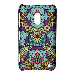 Mariager   Bold Blue,purple And Yellow Flower Design Nokia Lumia 620 Hardshell Case by Zandiepants
