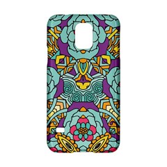 Mariager   Bold Blue,purple And Yellow Flower Design Samsung Galaxy S5 Hardshell Case  by Zandiepants