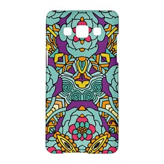 Mariager   Bold Blue,purple And Yellow Flower Design Samsung Galaxy A5 Hardshell Case  by Zandiepants
