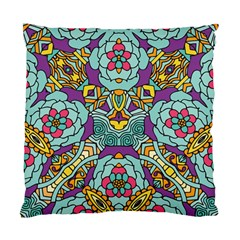 Mariager   Bold Blue,purple And Yellow Flower Design Standard Cushion Case (two Sides) by Zandiepants