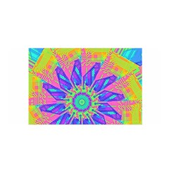 Neon Flower Sunburst Pinwheel Satin Wrap by CrypticFragmentsColors
