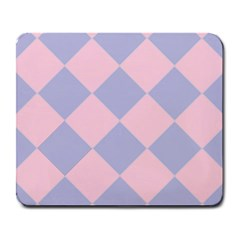 Harlequin Diamond Argyle Pastel Pink Blue Large Mousepads by CrypticFragmentsColors