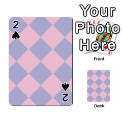 Harlequin Diamond Argyle Pastel Pink Blue Playing Cards 54 Designs
