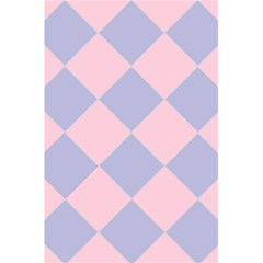 Harlequin Diamond Argyle Pastel Pink Blue 5 5  X 8 5  Notebooks by CrypticFragmentsColors