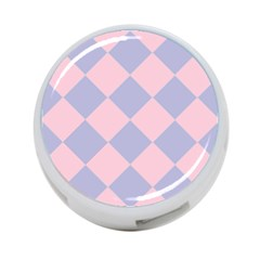 Harlequin Diamond Argyle Pastel Pink Blue 4 Port Usb Hub (two Sides)  by CrypticFragmentsColors