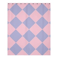 Harlequin Diamond Argyle Pastel Pink Blue Shower Curtain 60  X 72  (medium)  by CrypticFragmentsColors