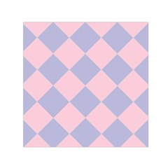 Harlequin Diamond Argyle Pastel Pink Blue Small Satin Scarf (square) by CrypticFragmentsColors