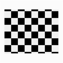 Checkered Flag Race Winner Mosaic Tile Pattern Small Glasses Cloth (2 Side)