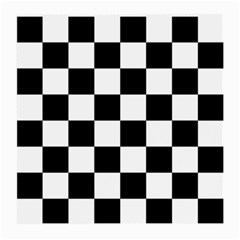 Checkered Flag Race Winner Mosaic Tile Pattern Medium Glasses Cloth (2 Side) by CrypticFragmentsColors