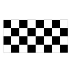 Checkered Flag Race Winner Mosaic Tile Pattern Satin Shawl by CrypticFragmentsColors