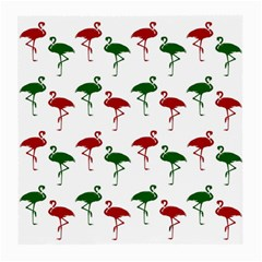 Flamingos Christmas Pattern Red Green Medium Glasses Cloth (2 Sides) by CrypticFragmentsColors