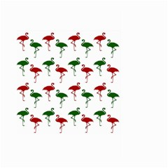 Flamingos Christmas Pattern Red Green Large Garden Flag (two Sides) by CrypticFragmentsColors