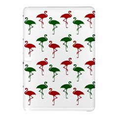 Flamingos Christmas Pattern Red Green Samsung Galaxy Tab Pro 10 1 Hardshell Case by CrypticFragmentsColors