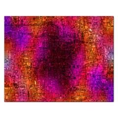 Purple Orange Pink Colorful Rectangular Jigsaw Puzzl