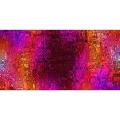 Purple Orange Pink Colorful You Are Invited 3d Greeting Card (8x4)